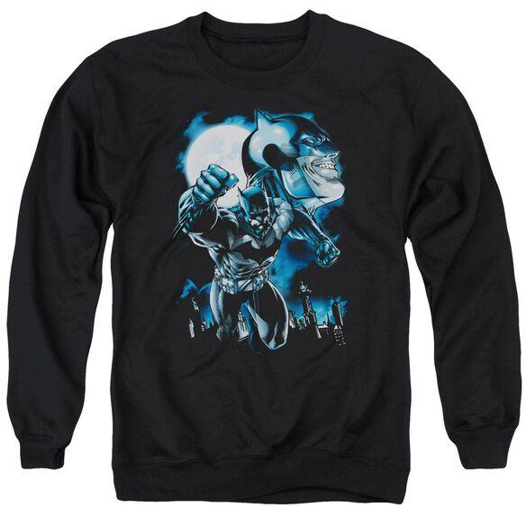 Batman Moonlight Bat Adult Crewneck Sweatshirt