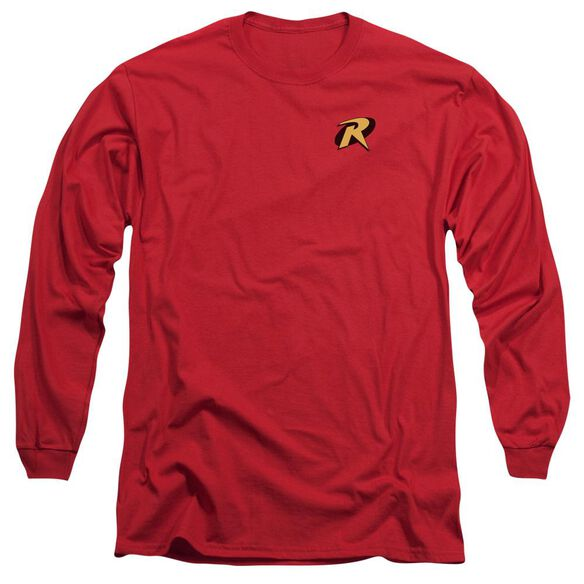 Batman Robin Logo Long Sleeve Adult T-Shirt