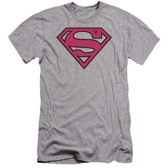 Superman Red & Black Shield Premuim Canvas Adult Slim Fit Athletic