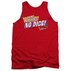 Fast Times Ridgemont High No Dice - Adult Tank - Red - 2x - Red