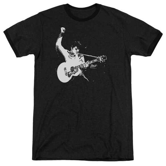 Elvis And White Guitarman Adult Ringer
