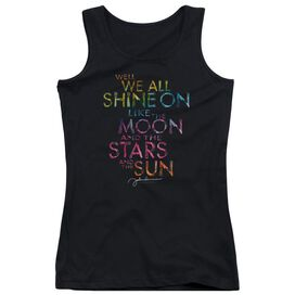 John Lennon All Shine On Juniors Tank Top