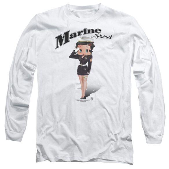 Betty Boop Marine Boop Long Sleeve Adult T-Shirt