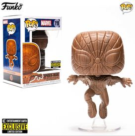 Funko Pop! Marvel: Spiderman Wood Deco - Entertainment Earth Exclusive