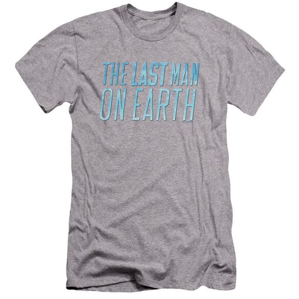 Last Man On Earth Logo Premuim Canvas Adult Slim Fit Athletic