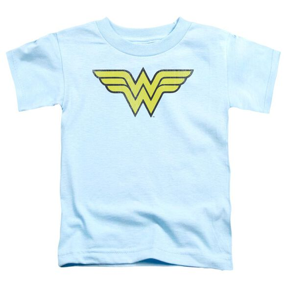 Dc Ww Logo Distressed Short Sleeve Toddler Tee Light Blue Sm T-Shirt