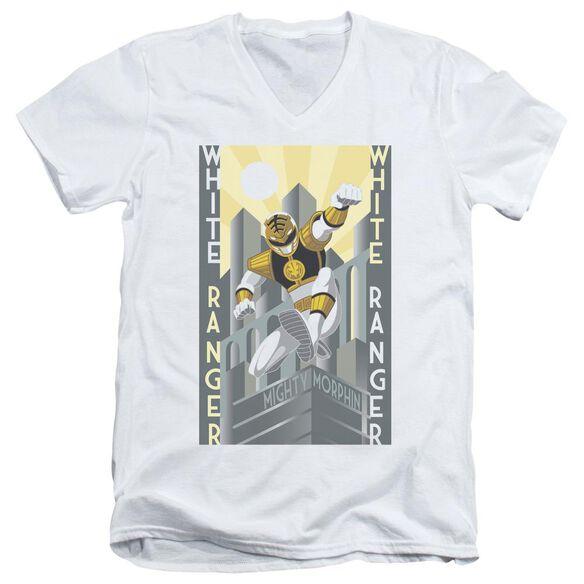 Power Rangers Ranger Deco Short Sleeve Adult V Neck T-Shirt
