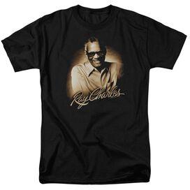 Ray Charles Sepia Short Sleeve Adult T-Shirt