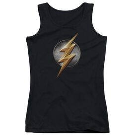 Justice League Movie Flash Logo Juniors Tank Top