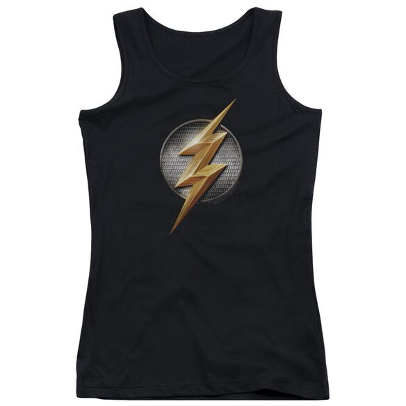 Justice League Movie Flash Logo Juniors Tank Top