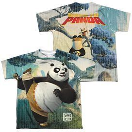 KUNG FU PANDA TRAINING (FRONT/BACK PRINT)-S/S YOUTH T-Shirt