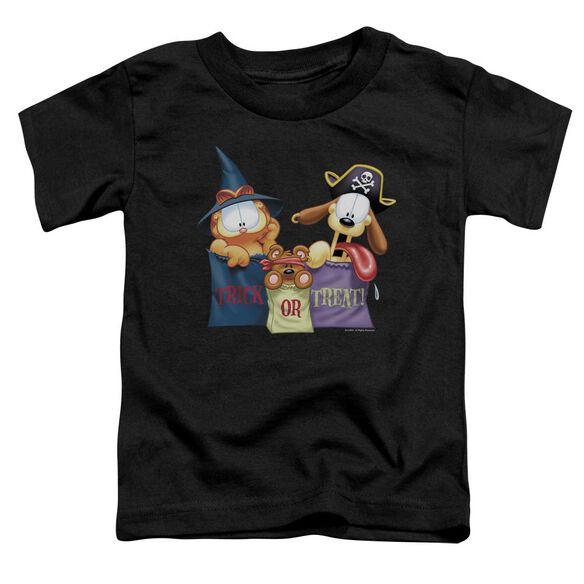 Garfield Grab Bags Short Sleeve Toddler Tee Black T-Shirt