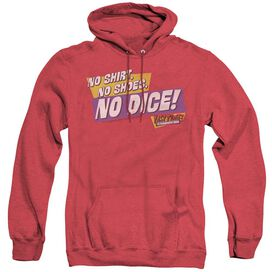 Fast Times Ridgemont High No Dice - Adult Heather Hoodie - Red