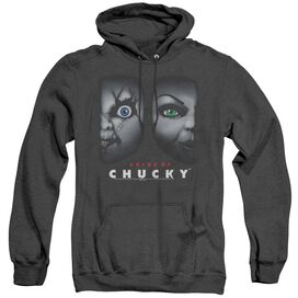 Bride Of Chucky Happy Couple - Adult Heather Hoodie - Black