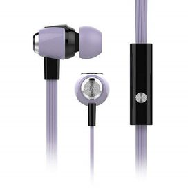 HyperGear Headphone 3.5mm In-Ear Headset with Mic Earphone (Pastel Lilac)