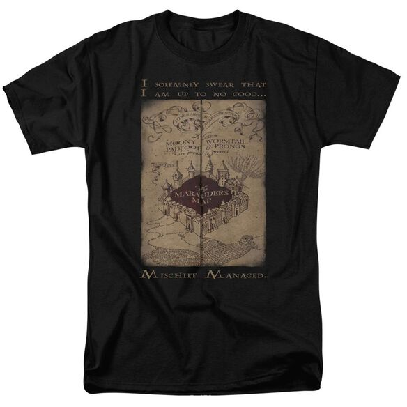 Harry Potter Marauders Map Words Short Sleeve Adult T-Shirt