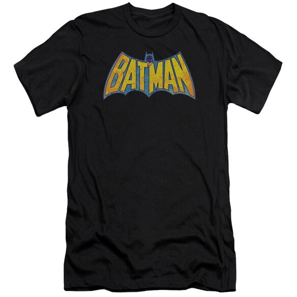 Dco Batman Neon Distress Logo Short Sleeve Adult T-Shirt