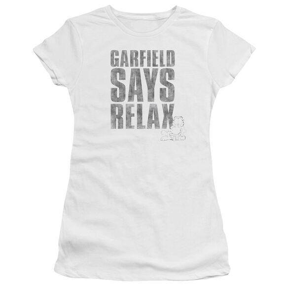 GARFIELD RELAX - S/S JUNIOR SHEER - WHITE T-Shirt
