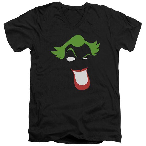 Batman Joker Simplified Short Sleeve Adult V Neck T-Shirt