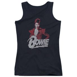 David Bowie Diamond David Juniors Tank Top