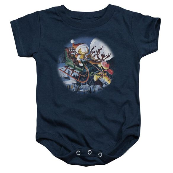 Garfield Moonlight Ride Infant Snapsuit Navy