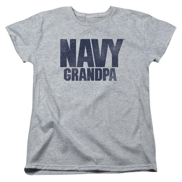 Navy Grandpa Short Sleeve Womens Tee Athletic T-Shirt