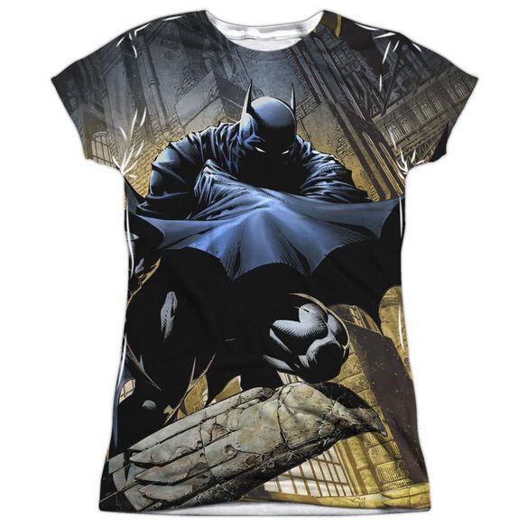Batman In Shadow Short Sleeve Junior Poly Crew T-Shirt