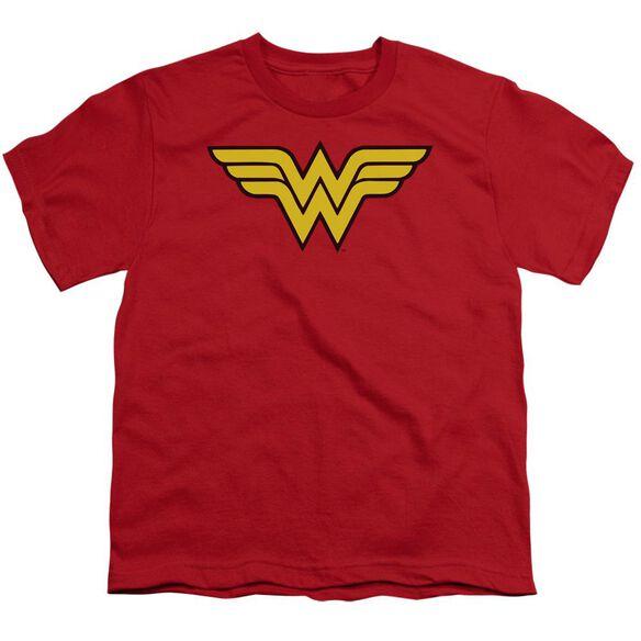 Dc Wonder Woman Logo Short Sleeve Youth T-Shirt