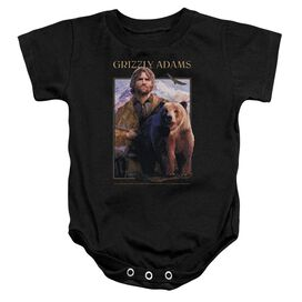 Grizzly Adams Collage Infant Snapsuit Black