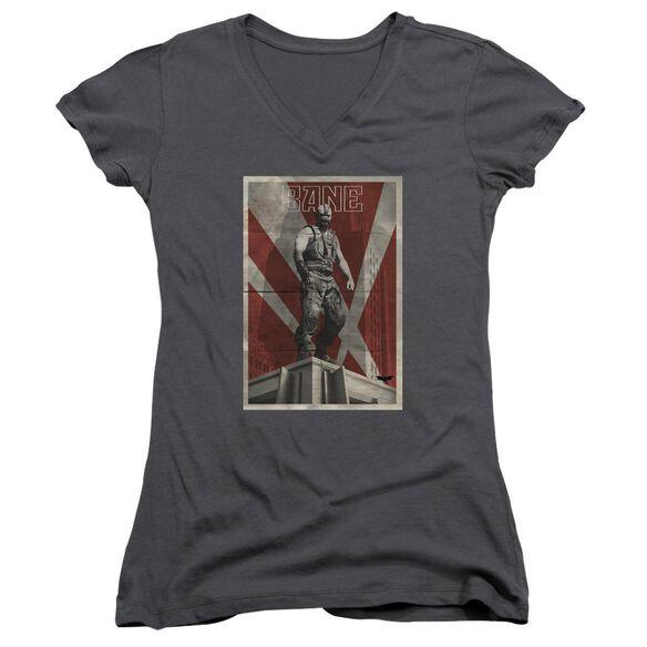 Dark Knight Rises Bane Rooftop Poster Junior V Neck T-Shirt