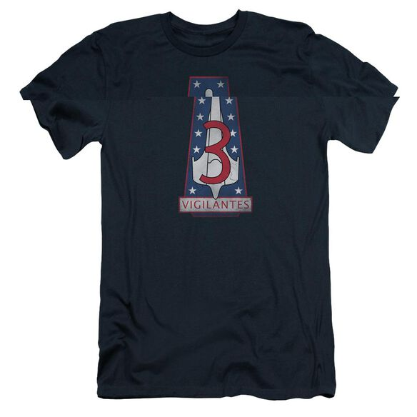 BSG VIGILANTES BADGE - S/S ADULT 30/1 - NAVY T-Shirt