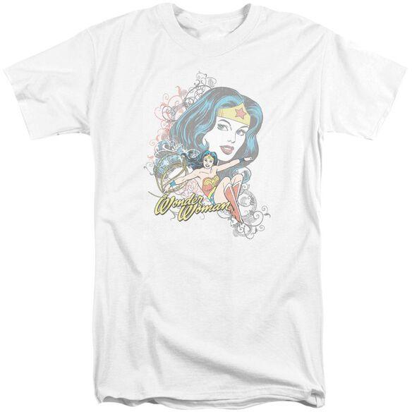 Dc Wonder Scroll Short Sleeve Adult Tall T-Shirt