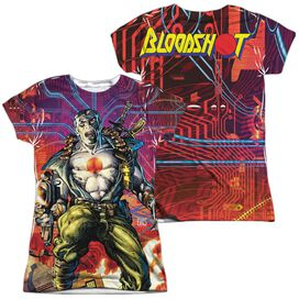 Bloodshot Cyber War (Front Back Print) Short Sleeve Junior Poly Crew T-Shirt