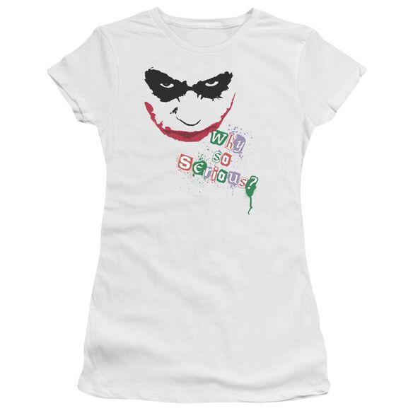 Dark Knight Too Serious Short Sleeve Junior Sheer T-Shirt