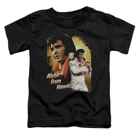 Elvis Aloha Short Sleeve Toddler Tee Black Sm T-Shirt