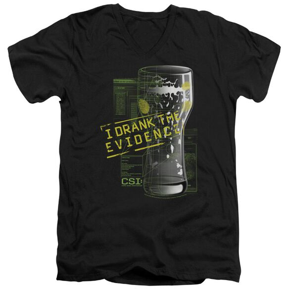 CSI I DRANK THE EVIDENCE - S/S ADULT V-NECK - BLACK T-Shirt