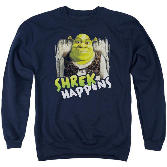 Shrek Happens Adult Crewneck Sweatshirt