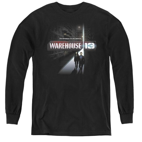 Warehouse 13 The Unknown - Youth Long Sleeve Tee - Black