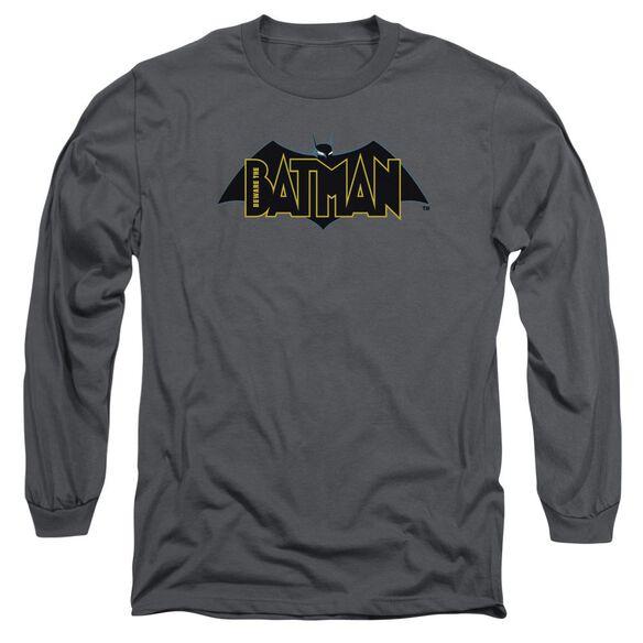 Beware The Batman Logo Long Sleeve Adult T-Shirt