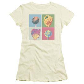 Dum Dums Pop Art Short Sleeve Junior Sheer T-Shirt