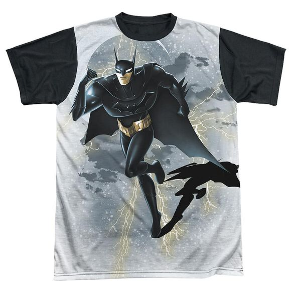 Beware The Batman Storm Sprint Short Sleeve Adult Front Black Back T-Shirt