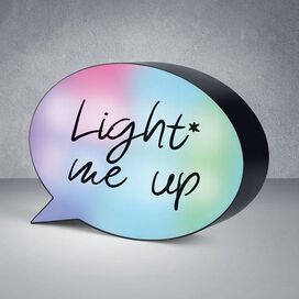 Mini Speech Bubble LED Light Box - Color Changing