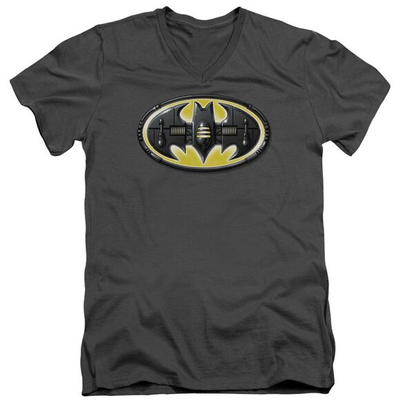 Batman Bat Mech Logo Short Sleeve Adult V Neck T-Shirt