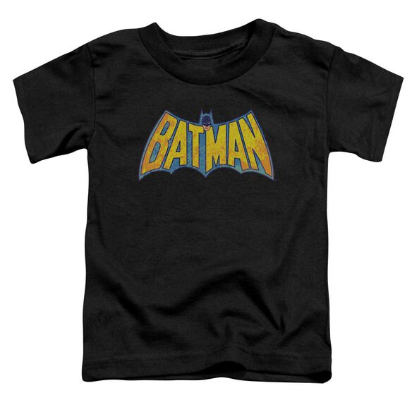Dco Batman Neon Distress Logo Short Sleeve Toddler Tee Black Lg T-Shirt