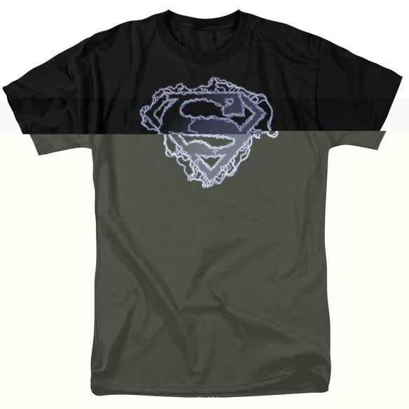 SUPERMAN ELECTRIC SUPES SHIELD - S/S ADULT 18/1 - BLACK T-Shirt