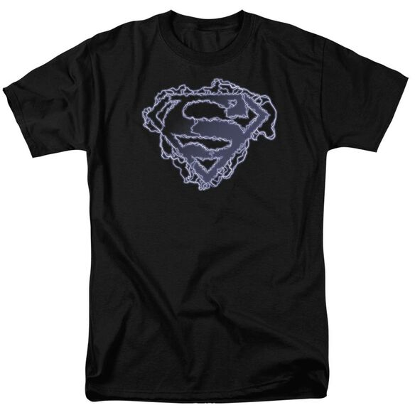 Superman Electric Supes Shield Short Sleeve Adult T-Shirt