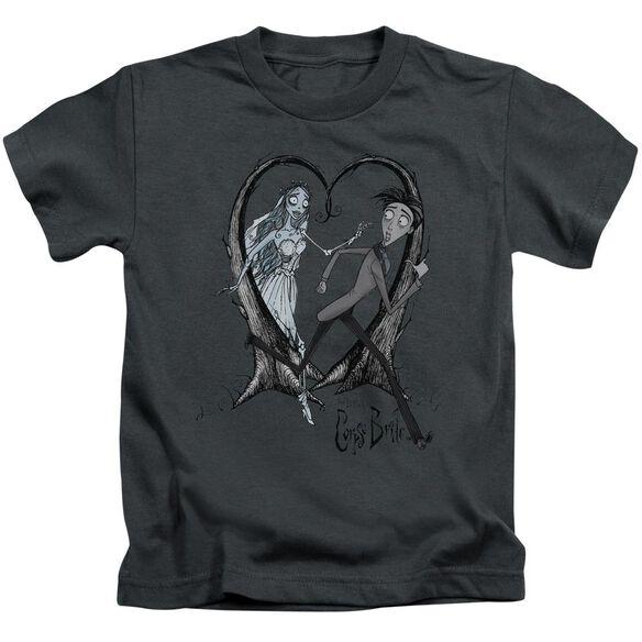 Corpse Bride Runaway Groom Short Sleeve Juvenile Charcoal T-Shirt