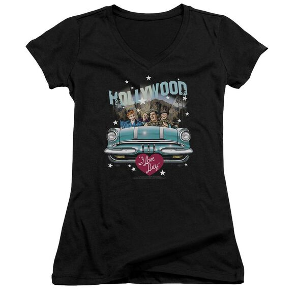 I Love Lucy Hollywood Road Trip Junior V Neck T-Shirt