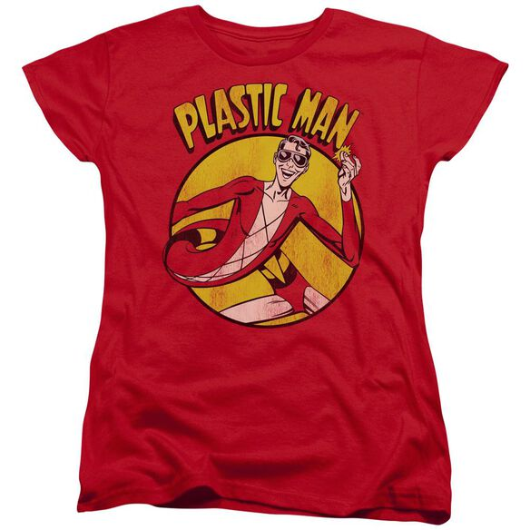 Dc Plastic Man Short Sleeve Womens Tee T-Shirt