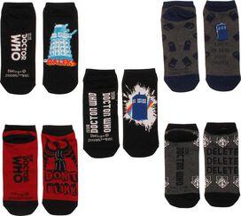 Doctor Who TARDIS Foes Ladies 5 Pk Low Socks Set